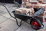Ambassador - Carretilla de rueda (90 L), color negro