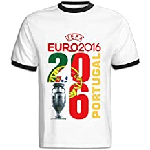 IWANNA Hombres de la UEFA Euro 2016 Champion Portugal T camisas aee446d9f5a4c