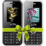 GLX W8, Basic Feature Mobile Phone, Combo Of 2 (Black+White)