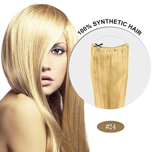 Secret Hair/ Flip-In Hair 20 Inches Invisible Attached Straight Hair / Balabella Hair (Ash Blonde(#24))