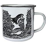 Nuevo Fondo Sirena Retro, lata, taza del esmalte 10oz/280ml l824e