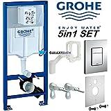 GROHE Rapid SL Cadre WC Fresh 5en 1de Chasse d'Eau Skate Cosmopolitan 38827000