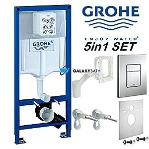 Grohe Rapid Cosmopolitan – Cisterna de pared para inodoro con marco para patines