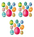 Beistle ER 44027 10 Easter Egg Assorted Installation Holes for Party Decorations