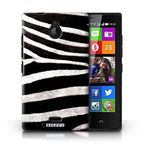 Kobalt® Imprimé Etui / Coque pour Nokia X2 Dual Sim / Vache/Brown conception / Série Motif Fourrure Animale Zèbre