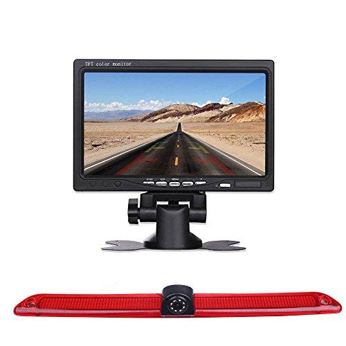 Rückfahrkamera Monitor + Rückfahrkamera Transporter, IR Nachtsicht Auto Kamera mit 4.3 Zoll LCD Farbdisplay wasserdichte für Mercedes Sprinter Viano Vito Transit Ducato VW Crafter T5 Master
