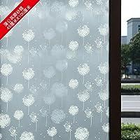 """Bagno in vetro smerigliato ombra adesivi trasparenti finestra opaca film Sun,""""tarassaco"""" 45x100"""