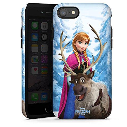 Apple iPhone X Silikon Hülle Case Schutzhülle Disney Frozen Anna & Sven Fanartikel Geschenke Tough Case glänzend