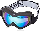 Rayzor Professional UV400 Double Lensed Ski / SnowBoard Goggles, With a Matt Black Frame and an Anti Fog Coated, Vented Blue Iridium Mirrored Anti-Glare Wide Vision Clarity Lens.