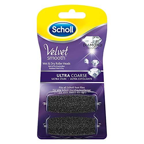 Scholl Velvet Smooth Wet und Dry Ersatzrollen Ultra Stark (Nachfüller für die elektrischen Hornhautentferner von Scholl, mit Diamantpartikeln) 2 Rollen