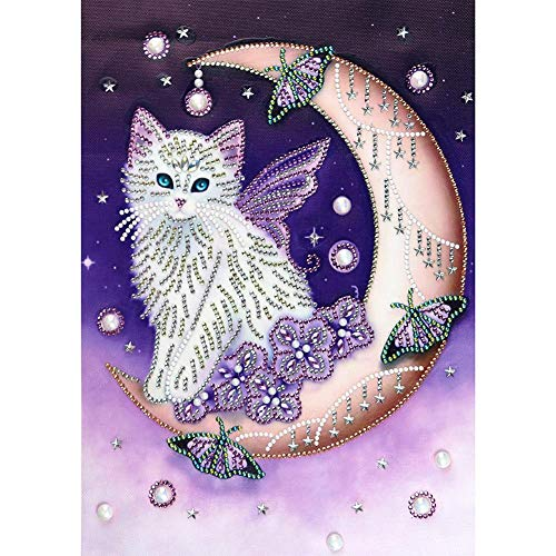 JUNERAIN 5D DIY Special Shaped Diamond Painting Cat Cross Stitch Mosaic Craft Kits