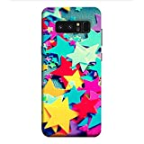 OBOkart Colorful Stars 3D Hard Polycarbonate (Plastic) Designer Back Case Cover For Samsung Galaxy Note8 :: Samsung Galaxy Note8 Duos