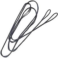 Milaem Dacron Cuerdas de Arco de Manual 58 Pulgada(149cm) Encerado Cuerdas de 14 Ramos para Arcos recurvados