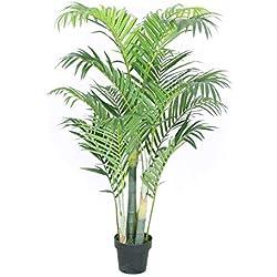 Jellywood Goldfruchtpalme Areca-Palme (Dypsis lutescens) Kunstbaum Kunstpflanze Künstliche Pflanze 135cm