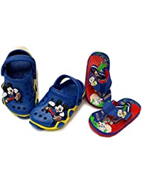 NEW AMERICAN Kids Attractive Slippers and Clog Combo