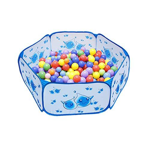 Pool Blau Regen Ball Pool Kinder Sicherheit Laufstall Zelt Faltbare Lagerung Spielzentrum Spielplatz Teiler Lernspielzeug ()