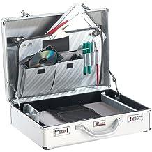 Xcase PE1350 - Maletín de aluminio para ordenador portátil y accesorios