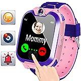 Smartwatch Juego de niños con Llamadas SOS Reloj Teléfono 1.44'Pantalla táctil de Alta definición Juguetes de Aprendizaje para niños Niños Chicas Rastreador de Ejercicios Reloj de Pulsera Pulsera
