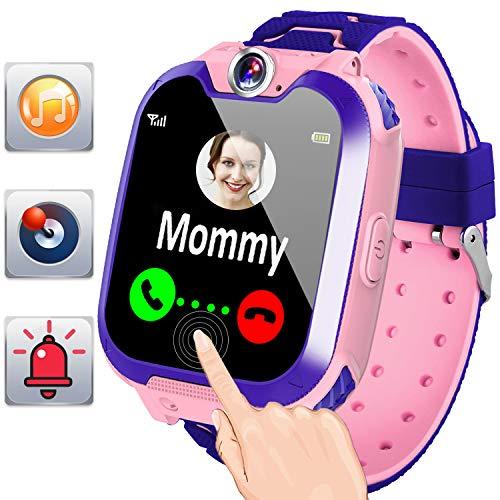 Gioco per bambini Smartwatch con chiamate SOS Guarda il telefono 1.44'HD Touch Screen Learning Toys per bambini Ragazzi Ragazze Fitness Tracker Wristband Watch Bracciale Regalo di complean (rosa)