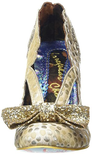 Irregular Choice Damen Curtain Call Pumps Goldfarben UjBiXuvm