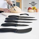 Couteaux en Céramique Professionnels Bravissima Kitchen Titanium (7 pièces)