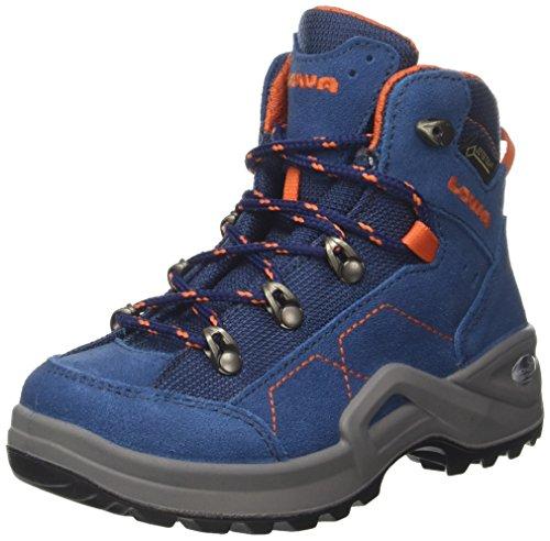 Lowa Kody III GTX Mid J, Chaussures de Randonnée Hautes Mixte Enfant, Bleu (Blue/Orange 6021), 32 EU