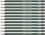 Crayon graphite - STABILO Othello - Lot de 12 crayons graphite 4B avec tête trempée