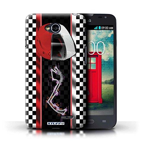 Kobalt® Imprimé Etui / Coque pour LG L70/D320 / Monaco/MonteCarlo conception / Série F1 Piste Drapeau Monaco/MonteCarlo