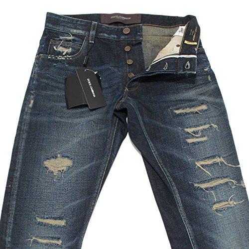 2374L jeans uomo DOLCE&GABBANA D&G 14 gold denim pantaloni trousers men [44]