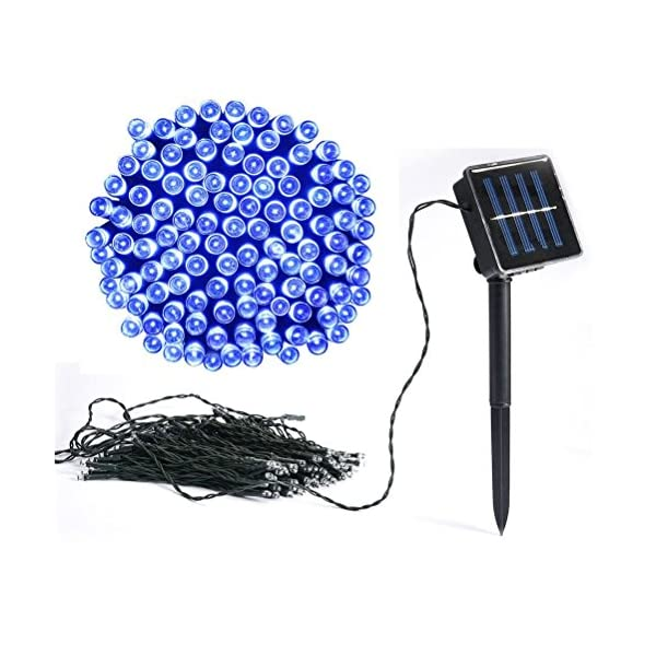 Vlio 8Modes Led Solar Power Fairy String Lights Outdoor Decorative Light 50 100 200 LEDs Waterproof IP44 with Light for Garden Home Wedding Party Christmas Halloween 1