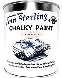 Ann Sterling Kreidefarbe Shabby Chic Farbe: Oldwhite / Altweiß 750ml. / ca. 1Kg. Lack Chalky Paint
