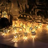 Morrocon metal Ball Shape Warm White 20-LED String Lights For Decoration Christmas Diwali Festival Home Decor