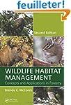 Wildlife Habitat Management: Concepts...