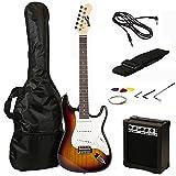 Best Beginner Electric Guitars - RockJam RJEG02-SK-SB Electric Guitar Starter Kit (Sun Burst) Review