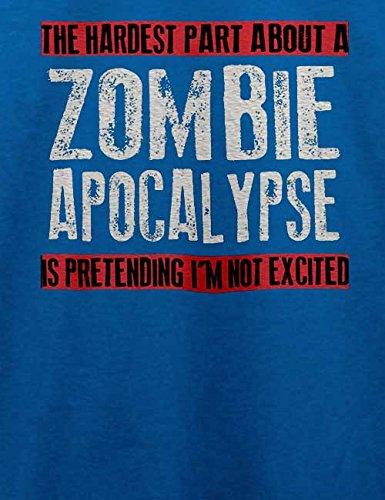 Zombie Apocalypse T-Shirt Royal Blau