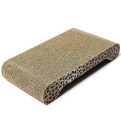 FOCUSPET Comfort Cat Kitten Scratch Box Board Leopard Grain Pattern Catnip Pet Toy Play Activity 6