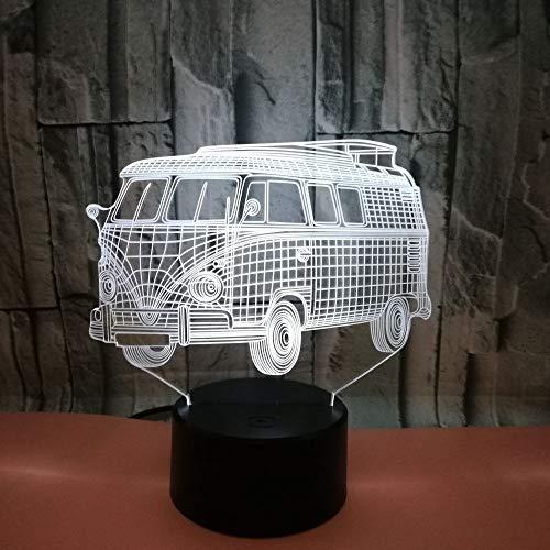 (3D Illusion Lampe Nachtlicht Led Bus 7 Farbwechsel Usb Schlaf Licht Touch Schalter Schlafzimmer Hochzeit Weihnachten Geburtstag Valentinstag Geschenk Für Kinder)