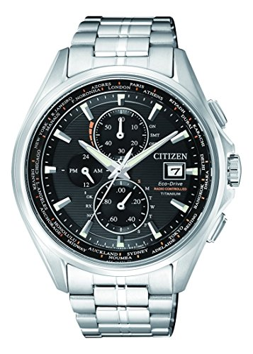Citizen Herren Chronograph Quarz Uhr mit Titan Armband AT8130-56E