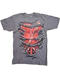 cff1669620e7d Marvel Deadpool Taco Time Ripped Camiseta