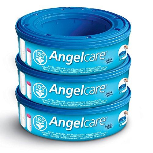Angelcare AR8003-DE 3er-Pack Nachfüllkassette Plus, blau