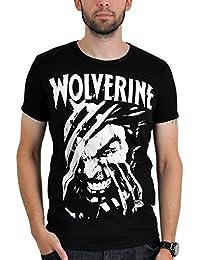 Logoshirt Tee-shirt imprimé Marvel Wolverine Noir