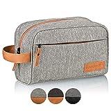 TRAVELSEVEN® Premium Kulturtasche XL, Sehr geräumig, Mehrere Innentaschen, Für Damen und Herren, Robust, Wasserabweisend (Hellgrau)