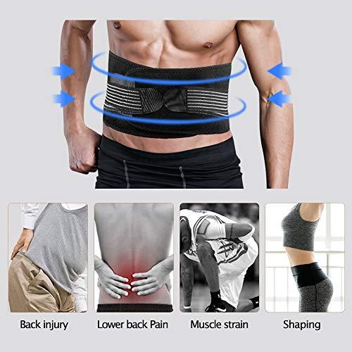 Lumbar para la Espalda, DINOKA Soporte Lumbar para Aliviar el Dolor y Lesiones