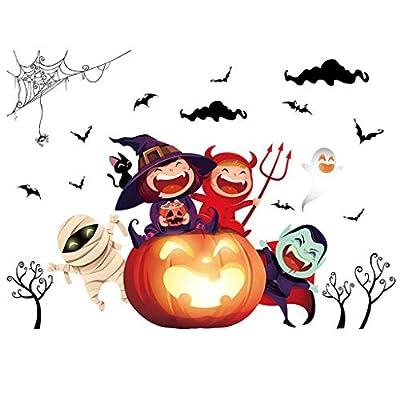 CHshe®--Etiqueta de La Pared, Personalidad de Halloween Etiqueta de La Pared Creativa, Fondo de Feliz Halloween Etiqueta de La Pared Decoración de La Ventana Calcomanía Decoración de CHshe(TM)