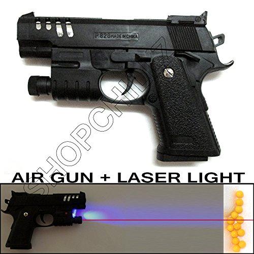 Ching Generic Air Sports Laser Gun Red Laser + Blue Light Pistol Toy