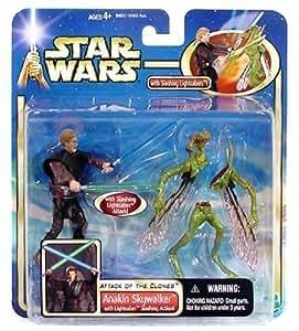 Anakin Skywalker Lightsaber Slashing Action Star Wars Saga Collection Figure by Hasbro