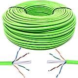 Mr. Tronic 100m Cavo di Rete Ethernet | CAT6, AWG24, CCA, UTP, RJ45 | Bobina di Rete (100 Metri, Verde)