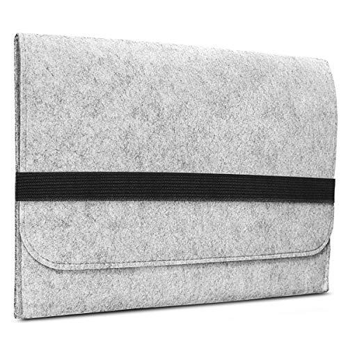 ROYALZ Filz Tasche für Microsoft Surface Laptop 2 Hülle (auch für Microsoft Surface Laptop geeignet) Sleeve Design Cover Filztasche Case, Farbe:Grau