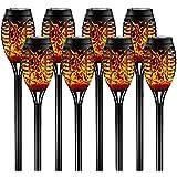 FLOWood Solar Fackel Lichter Wasserdicht 12LED Tanzen Flackernde Flamme Solarleuchten Landschaft Dekoration Beleuchtung Dämme