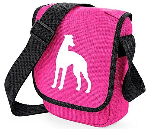 Bag Pixie ,  Unisex Erwachsene Umhängetaschen White Dog Pink Bag